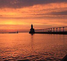 Light house sunset by Joshua Fronczak