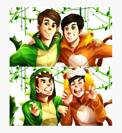 Dan & Phil - Onesies Photographic Print
