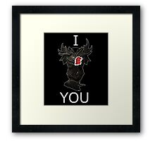 Skyrim - I Daedric Heart You Framed Print