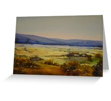 Landscape Near Jemalong Mountain, Forbes Greeting Card
