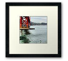 Live Golden Gate Framed Print