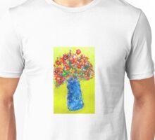 flowers in blue vase Unisex T-Shirt