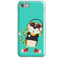 Cartoon Animals Tiger Listening To Music iPhone Case/Skin