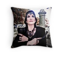 Dark Goddess Throw Pillow