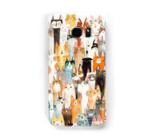 Multi-colored cat pattern  Samsung Galaxy Case/Skin