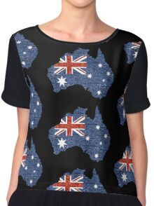 sequin australian flag Chiffon Top