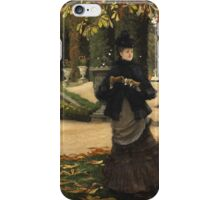 Vintage famous art - James Tissot - The Letter: vintage romantic gift, impressionism canvas paintings, retro wedding gift ideas iPhone Case/Skin