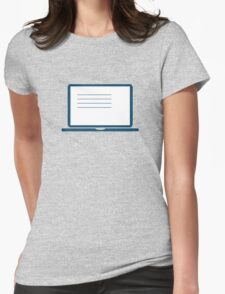 Laptop Womens Fitted T-Shirt