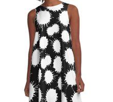 Inky Blots - White on Black A-Line Dress