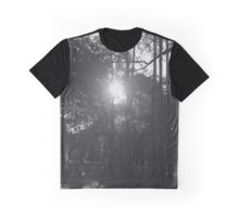 Black and White Woods Graphic T-Shirt