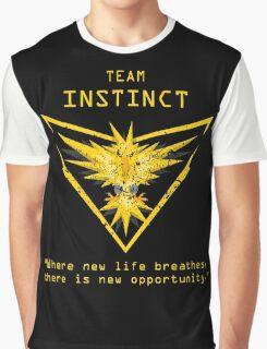 Pokemon GO Team Instinct Inspired Graphic T-Shirt