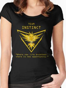 Pokemon GO Team Instinct Inspired Women's Fitted Scoop T-Shirt
