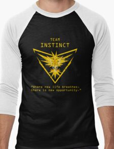 Pokemon GO Team Instinct Inspired Men's Baseball ¾ T-Shirt
