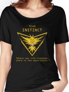 Pokemon GO Team Instinct Inspired Women's Relaxed Fit T-Shirt