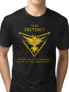 Pokemon GO Team Instinct Inspired Tri-blend T-Shirt