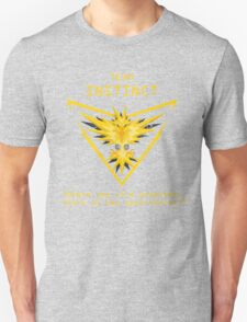 Pokemon GO Team Instinct Inspired Unisex T-Shirt