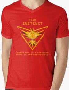 Pokemon GO Team Instinct Inspired Mens V-Neck T-Shirt