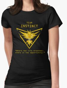 Pokemon GO Team Instinct Inspired Womens Fitted T-Shirt