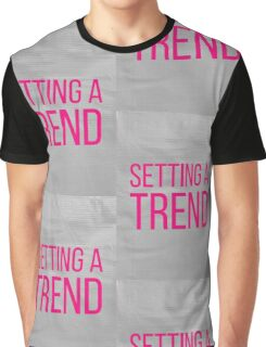 SETTING A TREND pink Graphic T-Shirt