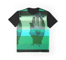 Port Robinson Glitched Worlds Graphic T-Shirt