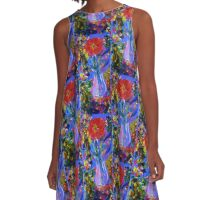 electric flowers A-Line Dress