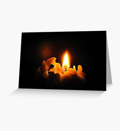 A silent candle light Greeting Card