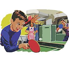 Ping Pong Championship Photographic Print