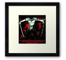 Roronoa Zoro The Fierce Animal (Black Version) Framed Print