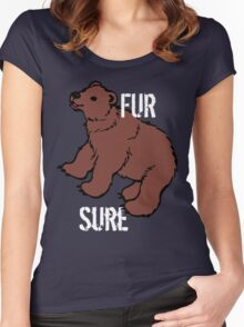 Funny Fur Sure Bear Women's Fitted Scoop T-Shirt