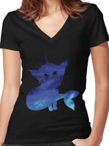 WATER BLAST Women's Fitted V-Neck T-Shirt