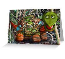Towel Turtle Greeting Card