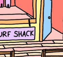 yellow surf shack Sticker