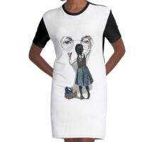 Banksy graffiti Graphic T-Shirt Dress
