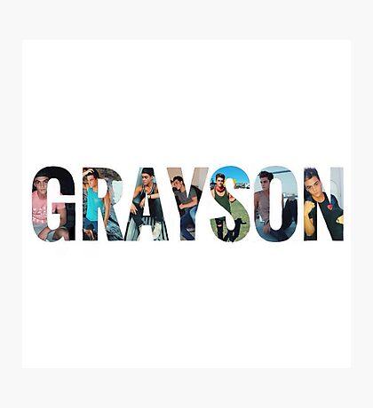 Grayson Dolan name #2 Photographic Print