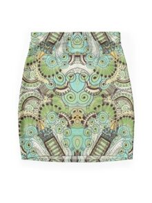 Belle Epoque Pattern Mini Skirt
