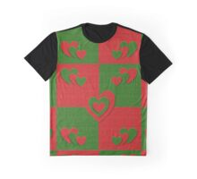 red and green heart pattern Graphic T-Shirt