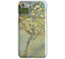 Vincent Van Gogh - Small Pear Tree In Blossom. Still life with flowers: flowers, blossom, nature, botanical, floral flora, wonderful flower, plants, cute plant for kitchen interior, garden, vase iPhone Case/Skin