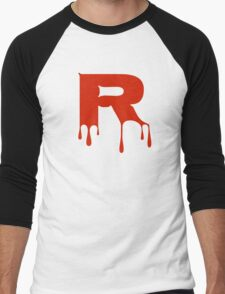 Dripping Letter R Men's Baseball ¾ T-Shirt