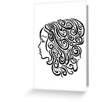 A face in the lines Greeting Card