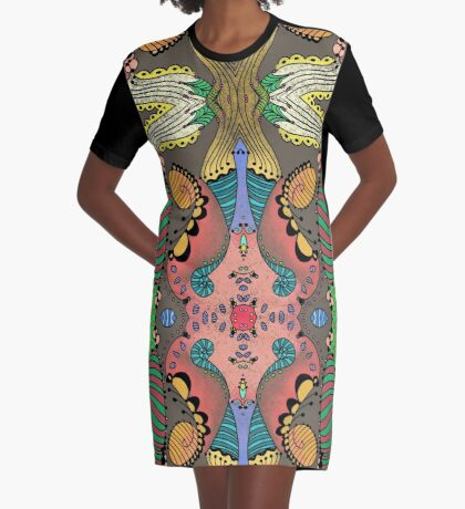 Tulip Mania Graphic T-Shirt Dress