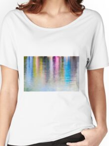 Colourful reflection in water  Women's Relaxed Fit T-Shirt