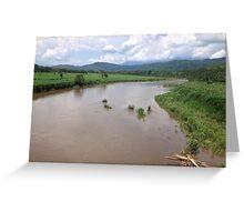 Tárcoles River, Costa Rica Greeting Card