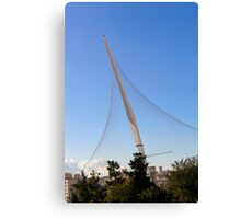 Israel, Jerusalem, Chord Bridge (AKA String Bridge)  Canvas Print