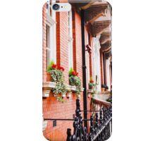 Flowers on the London sidewalk iPhone Case/Skin