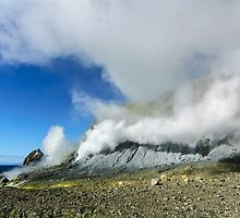 White Island Steam Vents by Werner Padarin