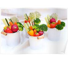 fresh Vegetable snacks Poster