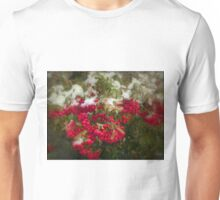 White on Red Unisex T-Shirt