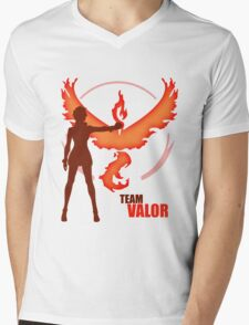Team Valor | Pokemon GO Mens V-Neck T-Shirt