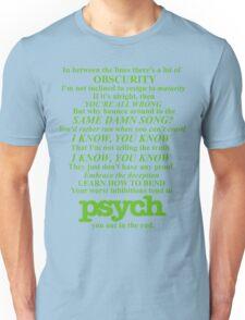 Psych Theme Text Unisex T-Shirt