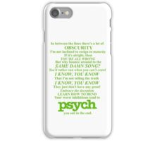 Psych Theme Text iPhone Case/Skin